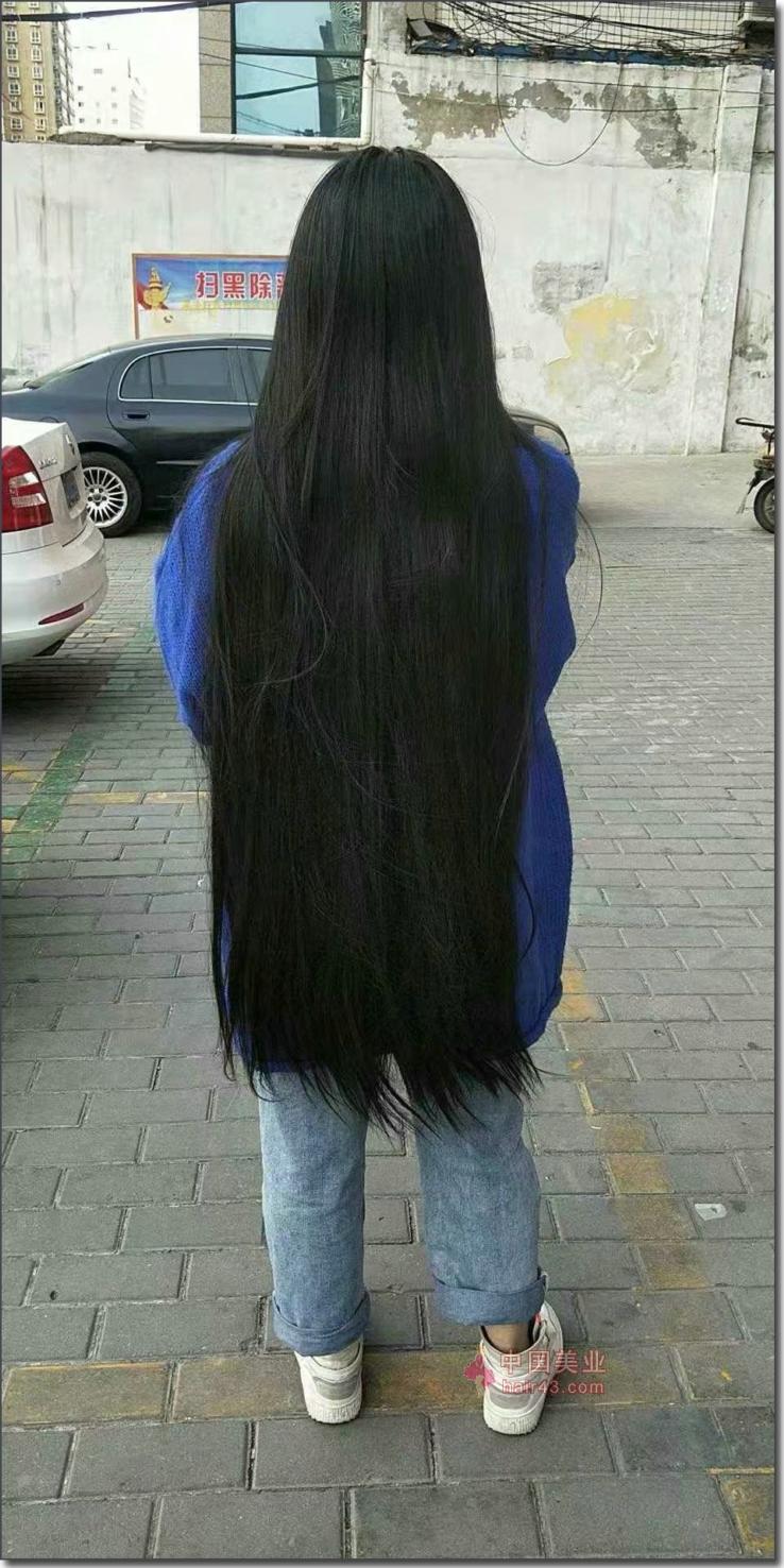 新疆头发图片_剪去姑娘88公分6.2两巨粗长发-狠狠爱李2920#_中国长发